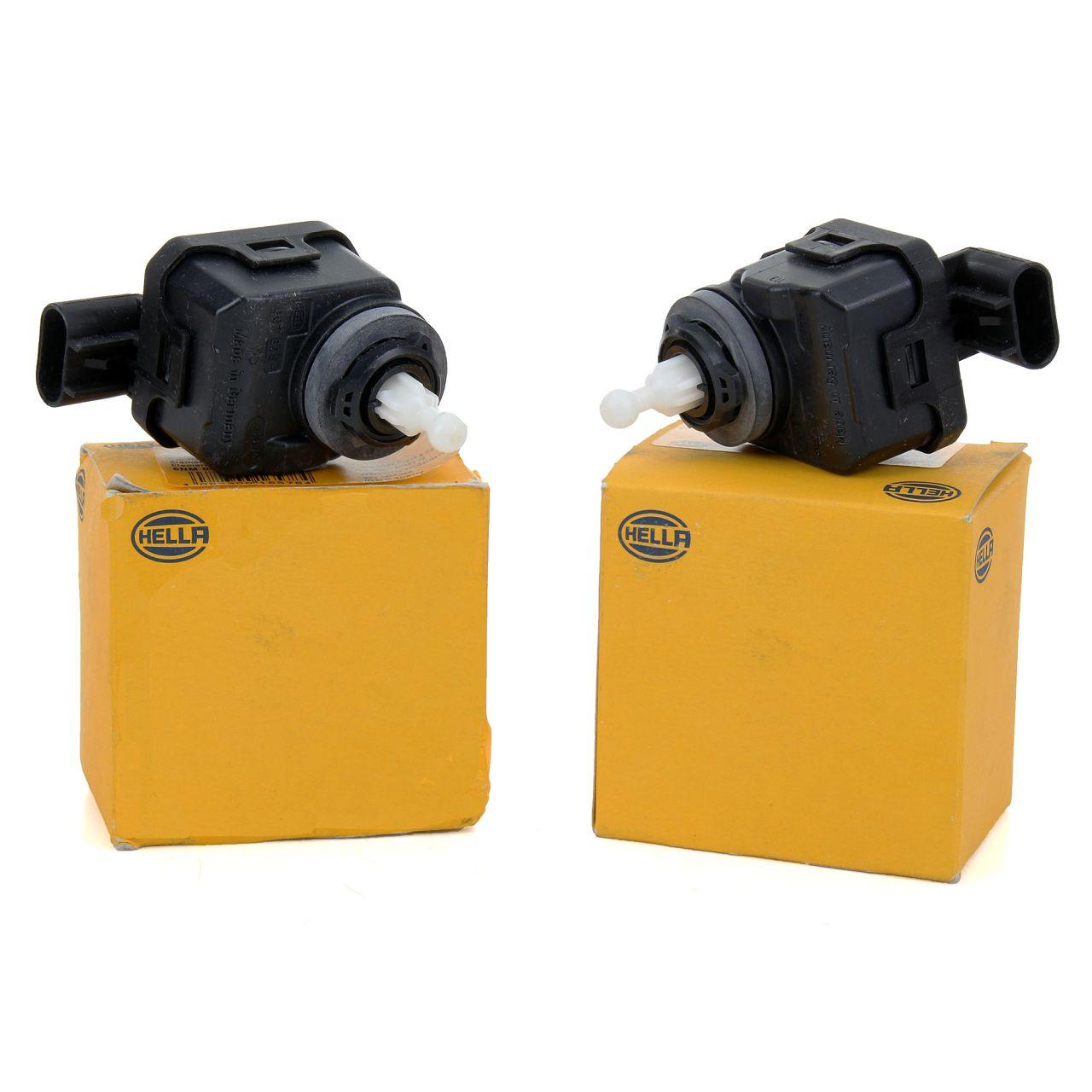 2x HELLA Stellmotor Scheinwerfer Leuchtweitenregulierung OPEL Astra G 6207044