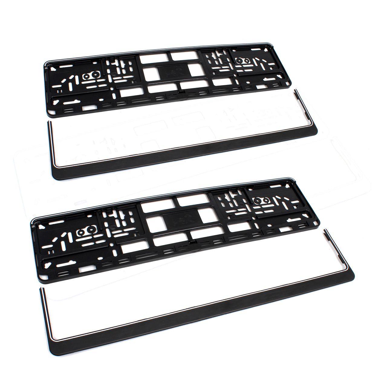 2x Kennzeichenhalter Nummernschildhalter Wechselkennzeichen TERRA SCHWARZ 520mm
