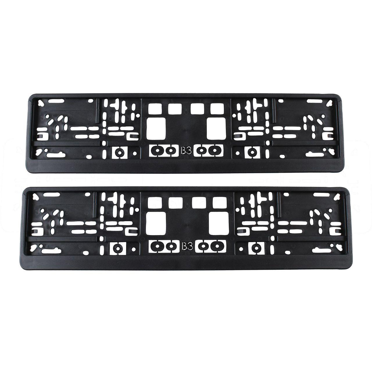 2x Kennzeichenhalter Nummernschildhalter Wechselkennzeichen MERKUR SCHWARZ 520mm