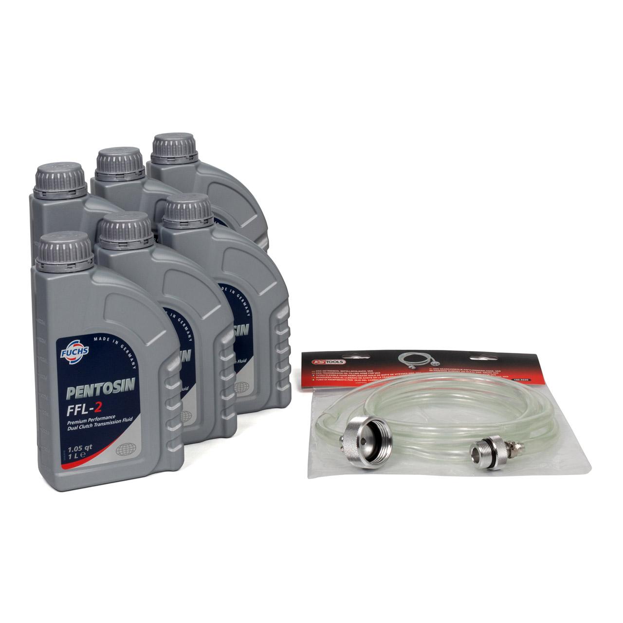 FUCHS Pentosin Getriebeöl Doppelkupplung DSG FFL-2 6 L + Befüllschlauch für VAG