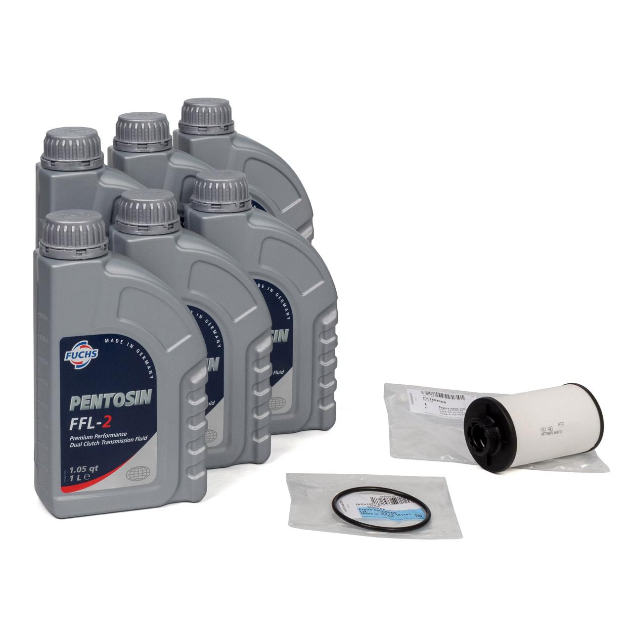 FUCHS Pentosin Getriebeöl DSG FFL-2 - 6L 6 Liter + ORIGINAL VAG Getriebefilter