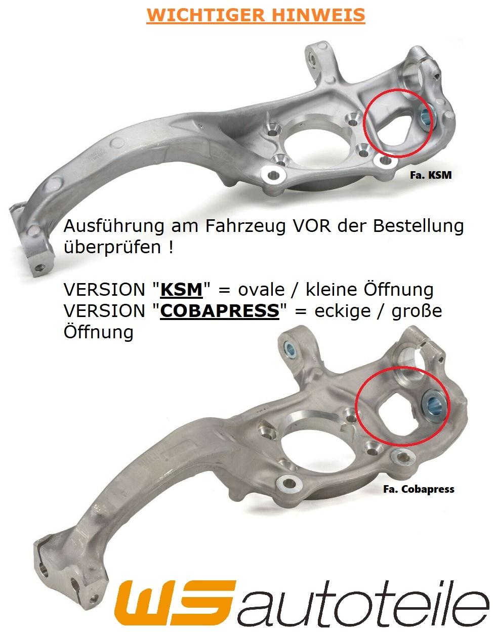 AIC Achsschenkel KSM für AUDI A4 B8 A5 8T 8F bis 11.2009 vorne rechts 8K0407254T