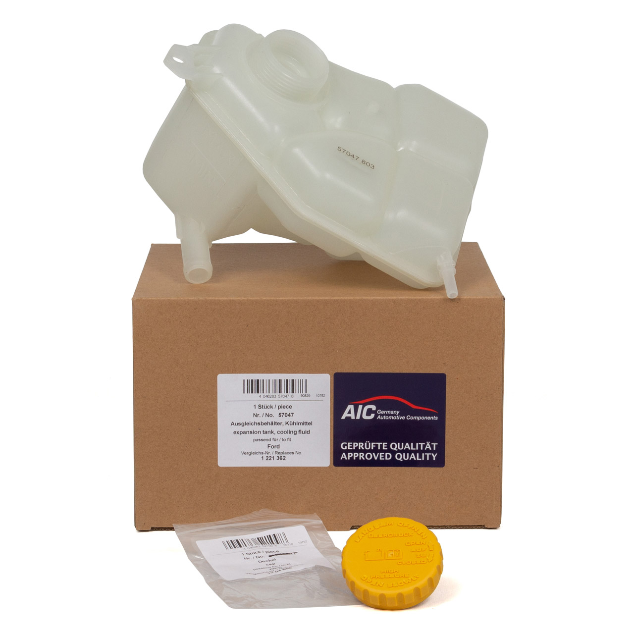 AIC Ausgleichsbehälter Kühlmittel + Deckel für FORD FIESTA V FUSION 1.25 1.4 1.6