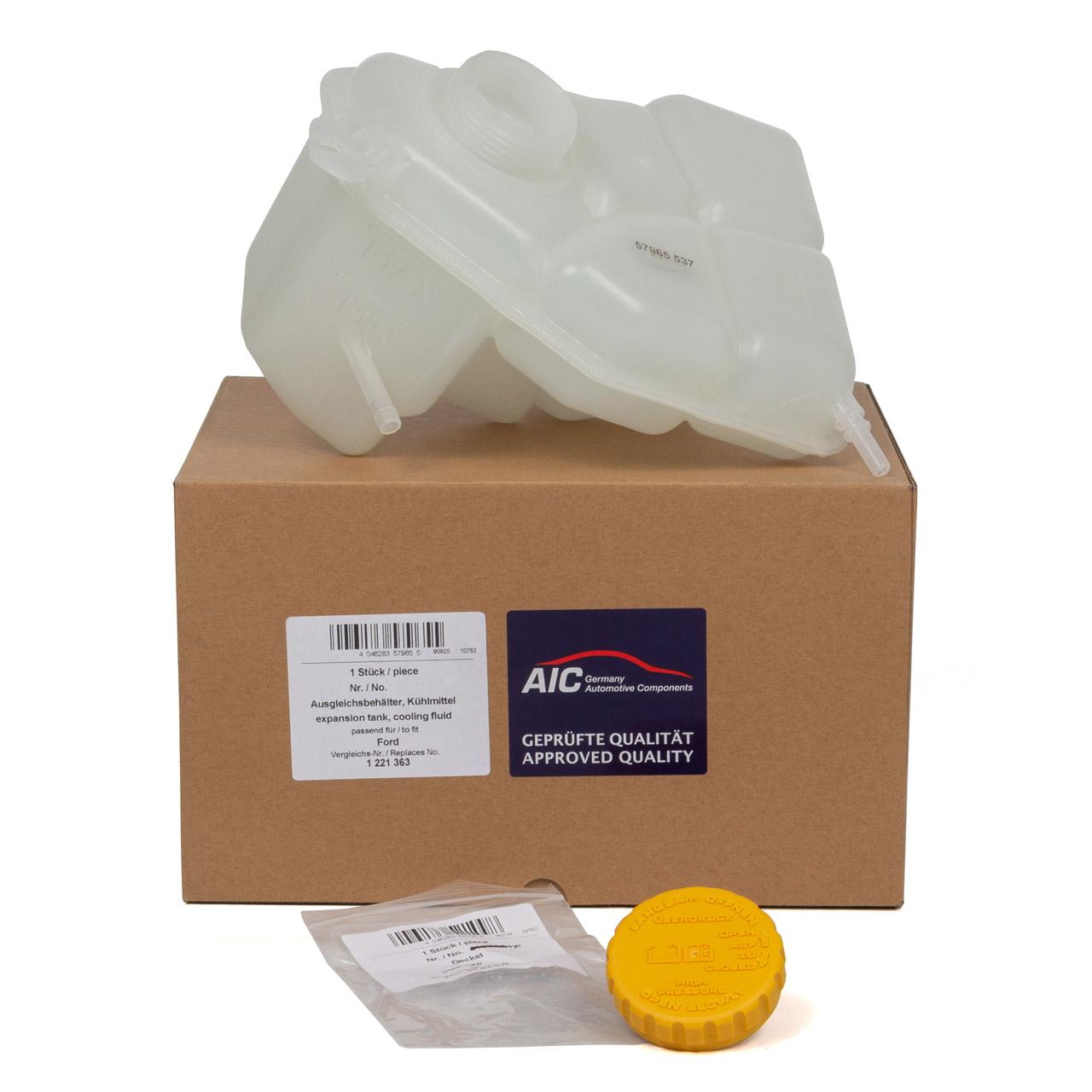 AIC Ausgleichsbehälter Kühlmittel + Deckel für FORD FIESTA V FUSION 1.3 1.4 TDCi