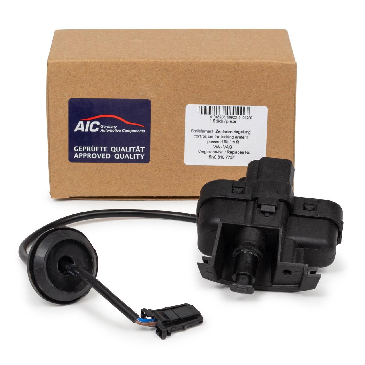 AIC Stellmotor Stellelement Tankklappe Tankdeckel VW Golf 5 6 Variant Tiguan 5N 5N0810773F