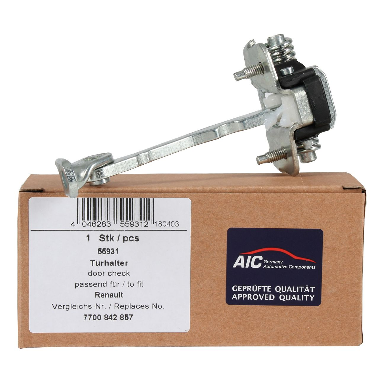 AIC Türfeststeller Türsteller Türhalteband Türfangband für RENAULT CLIO II vorne