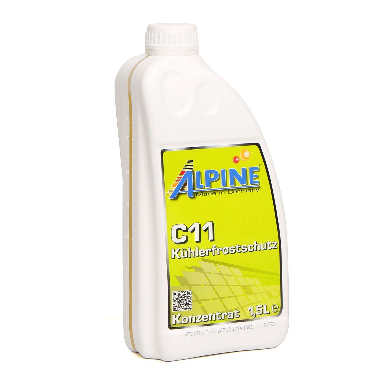 ALPINE Frostschutz Kühler Kühlerfrostschutz Konzentrat 1,5L C11 G11 GELB