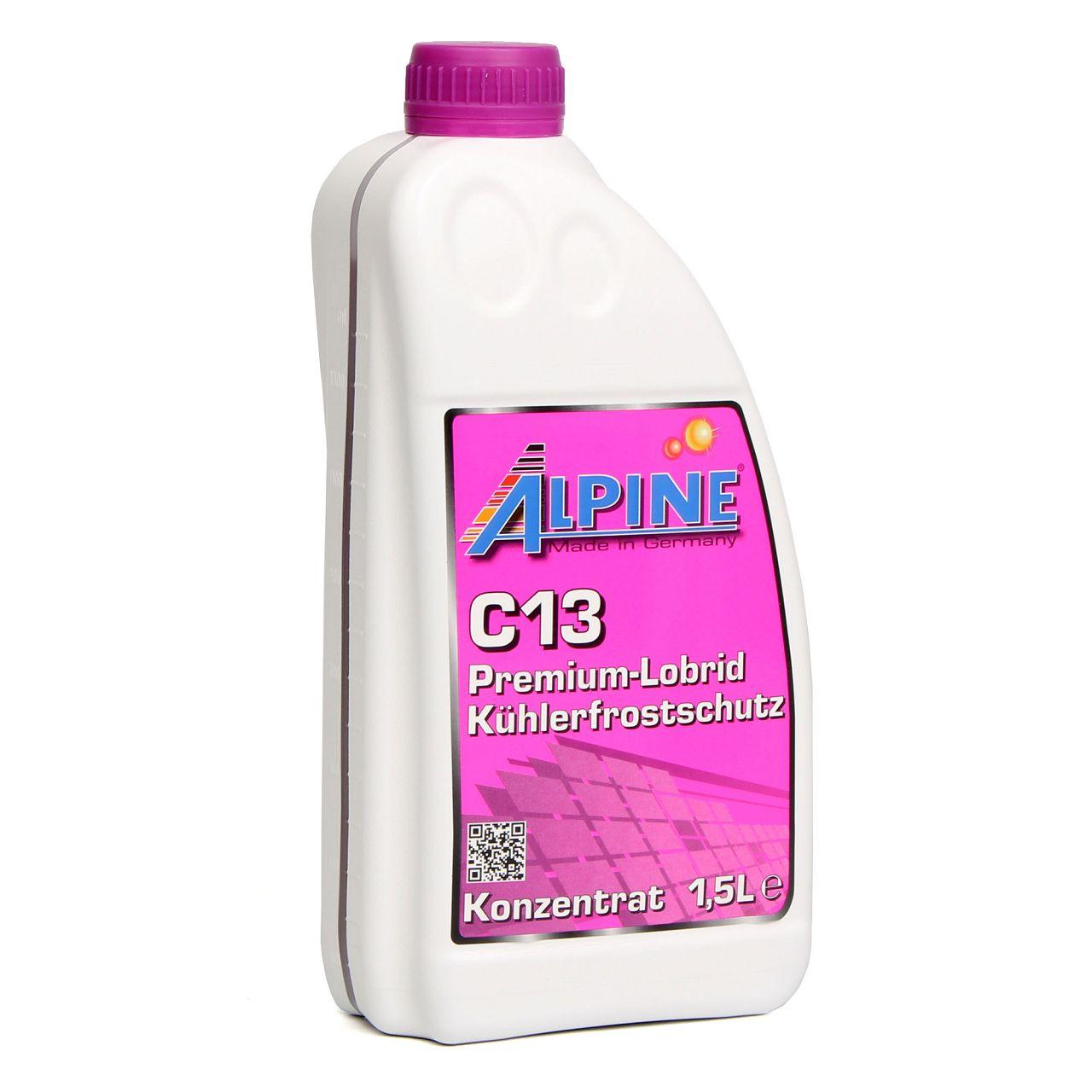 ALPINE Frostschutz PREMIUM Kühlerfrostschutz Konzentrat C13 G13 1,5L VIOLETT