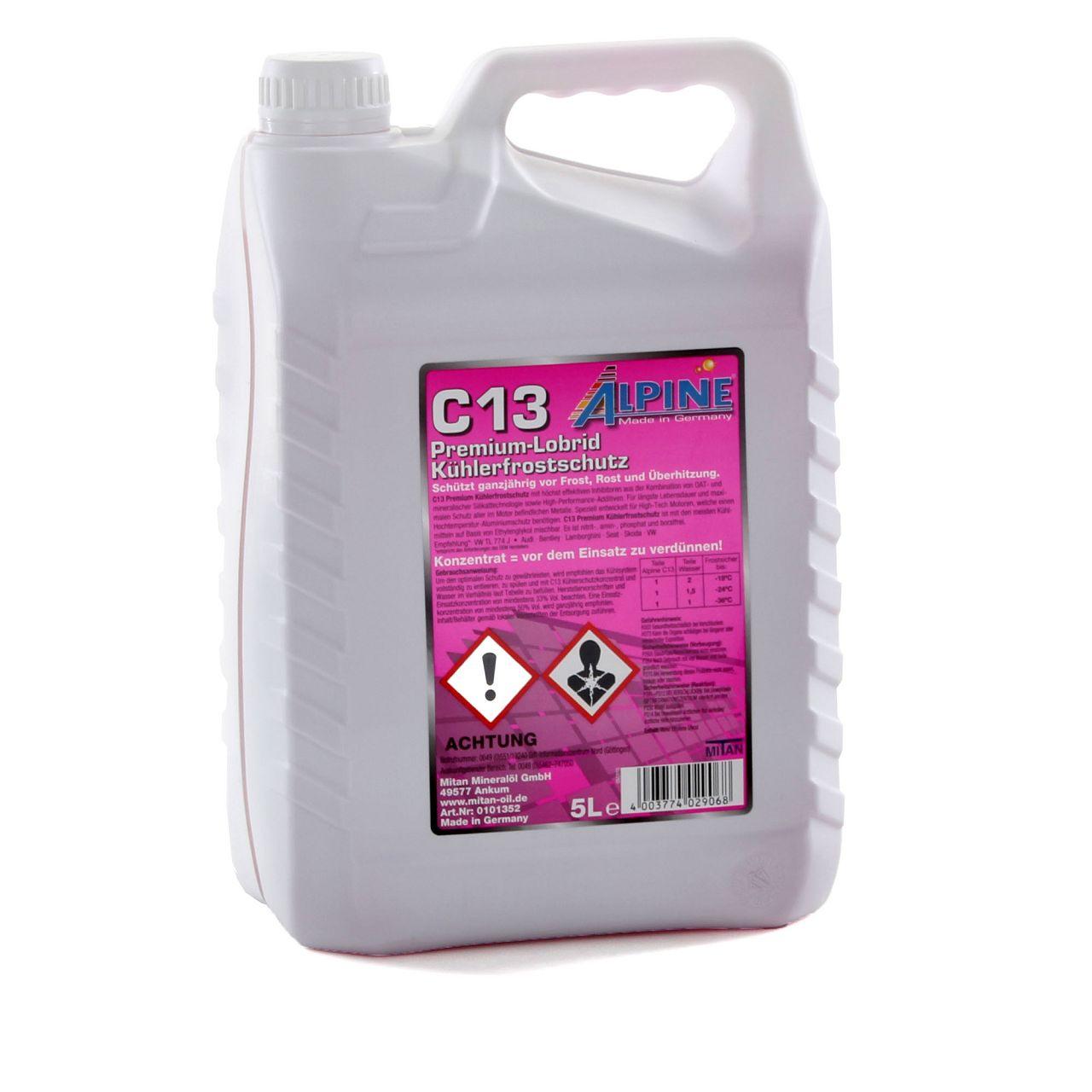 ALPINE Frostschutz PREMIUM Kühlerfrostschutz Konzentrat C13 G13 5L VIOLETT