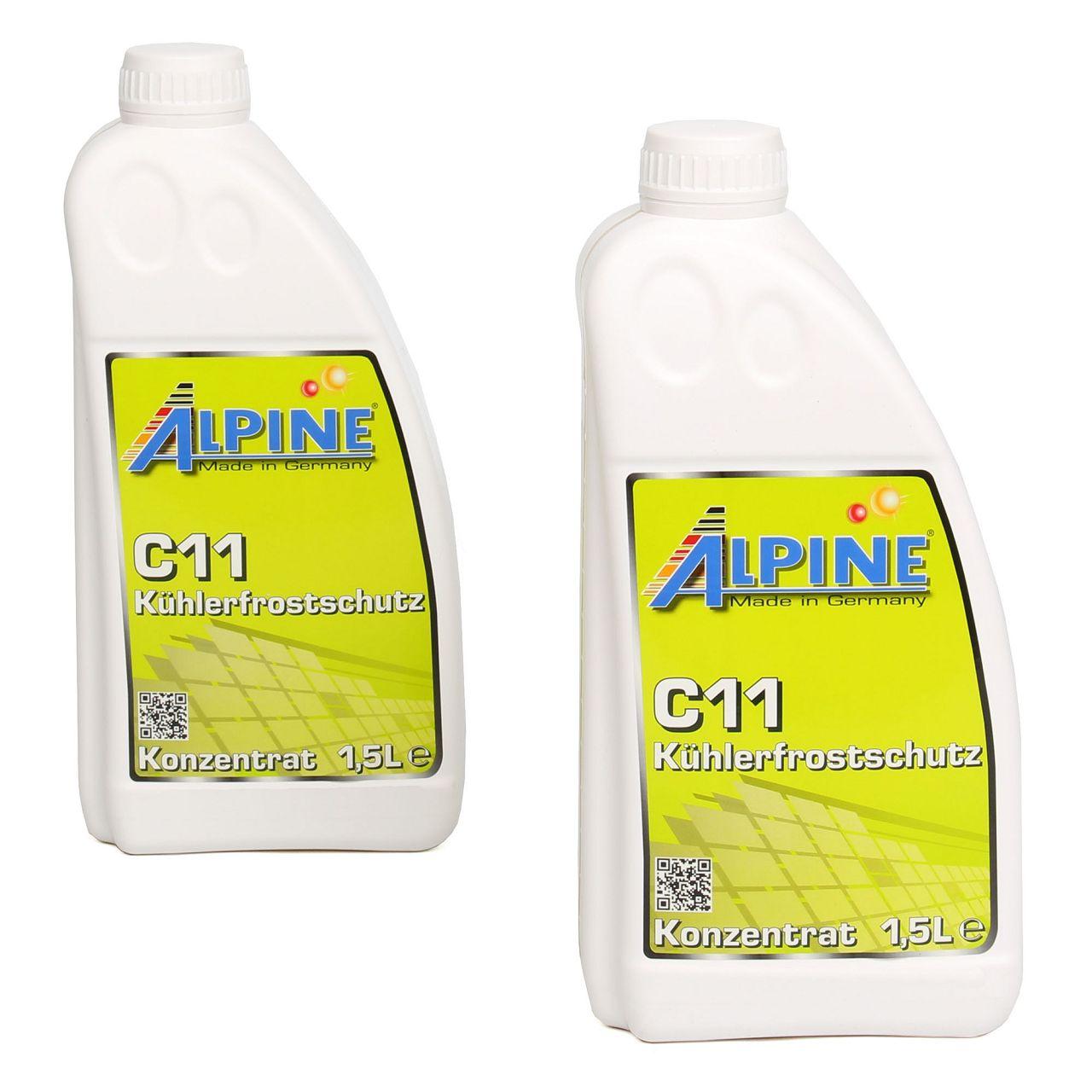 ALPINE Frostschutz Kühler Kühlerfrostschutz Konzentrat 3L C11 G11 GELB