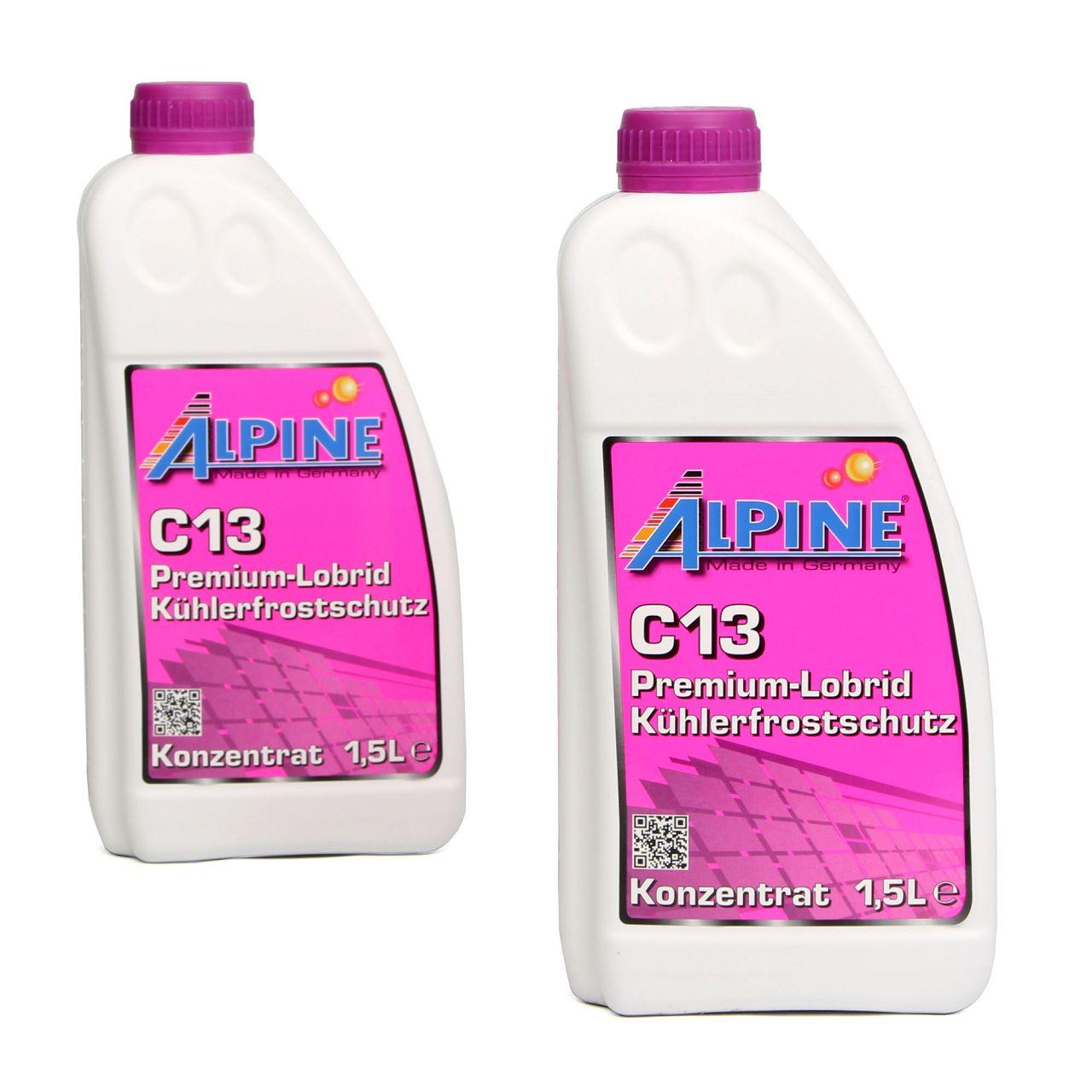 ALPINE Frostschutz PREMIUM Kühlerfrostschutz Konzentrat 3L C13 G13 VIOLETT