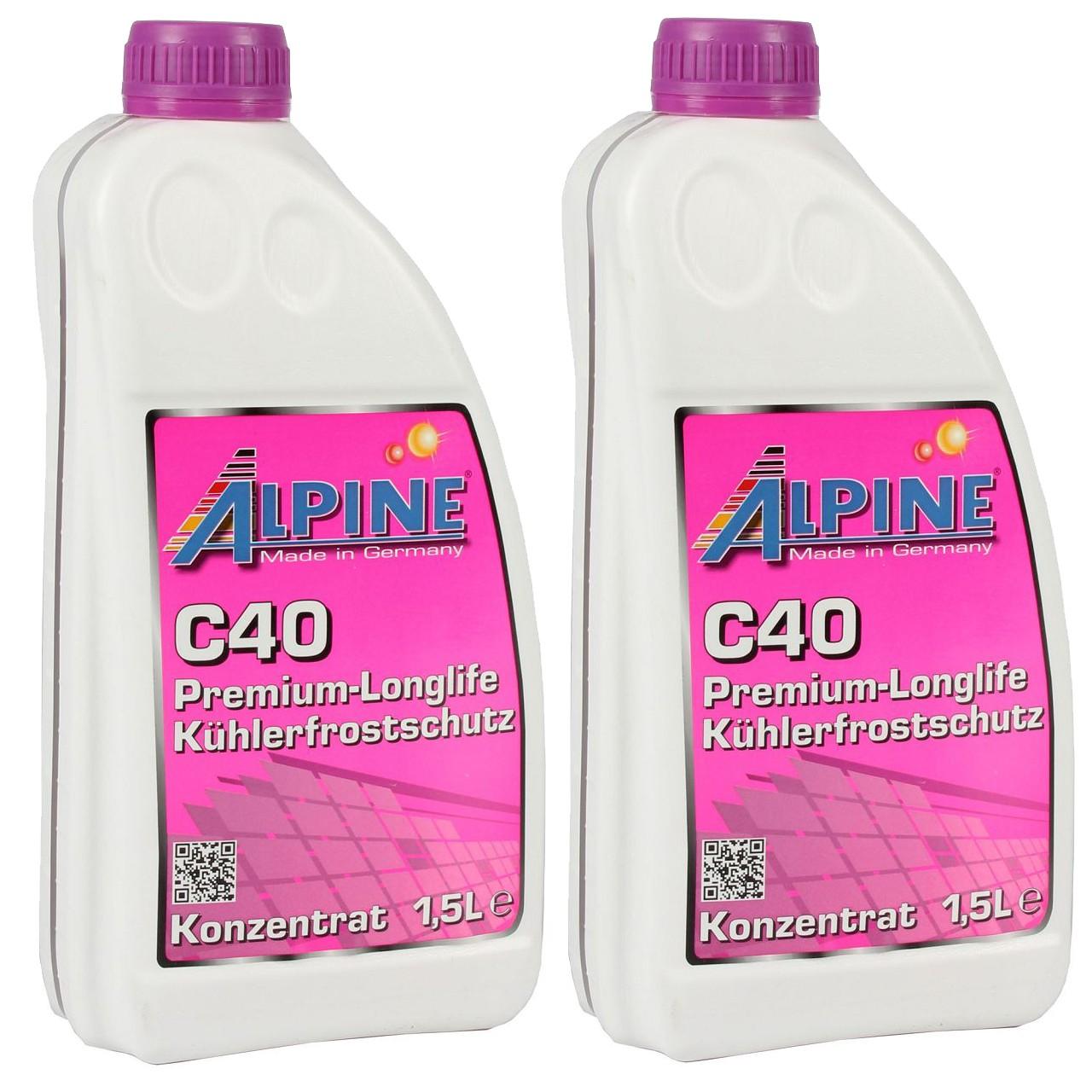 3 Liter 3L ALPINE Frostschutz Kühler Kühlerfrostschutz Konzentrat C40 G40