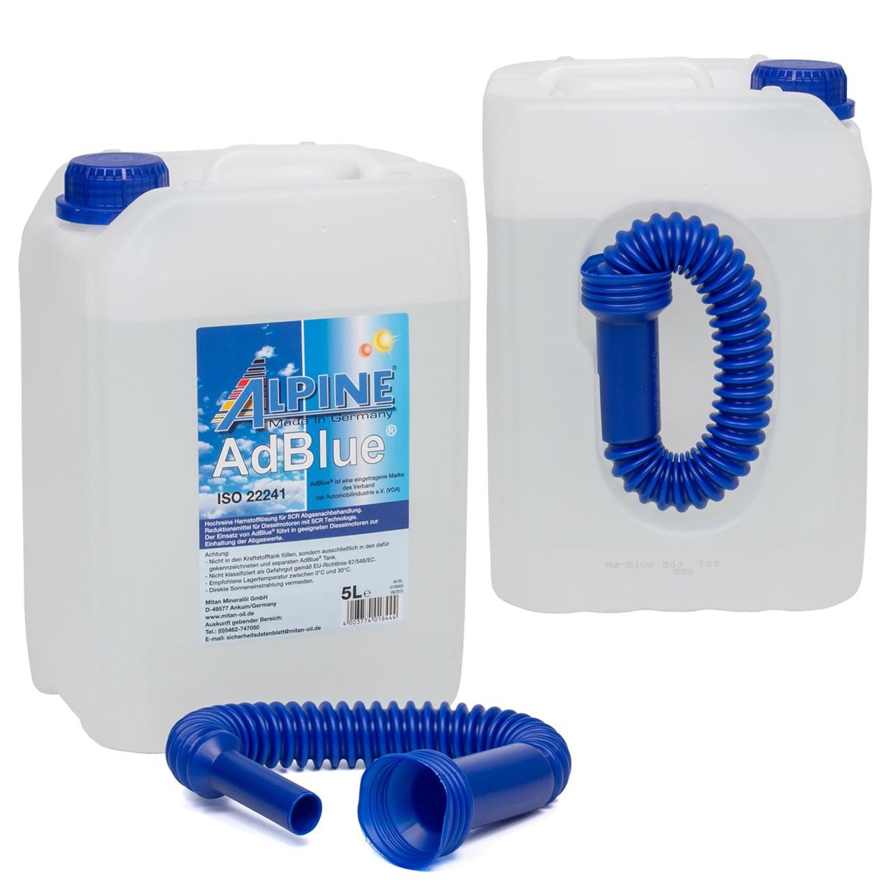 ALPINE AdBlue® NOX-Reduktionsmittel für Diesel-Motoren Harnstoff 2x 5L 5-Liter