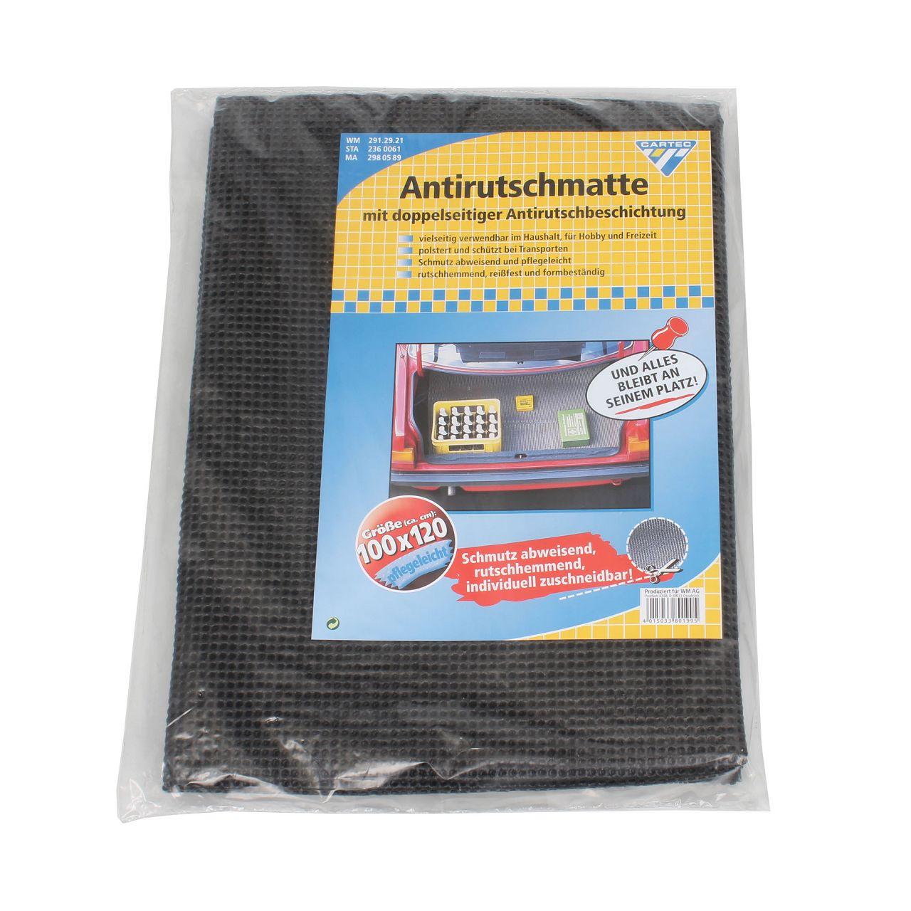 CARTEC Antirutschmatte Schutzmatte Kofferraum ANTHRAZIT 1000x1200mm Dicke: 2mm