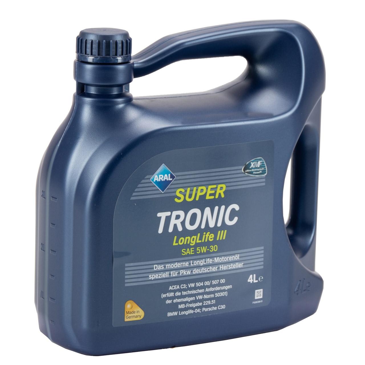 ARAL Motoröl Öl SUPER TRONIC LongLife III 5W30 für VW 504.00/507.00 - 4L 4 Liter