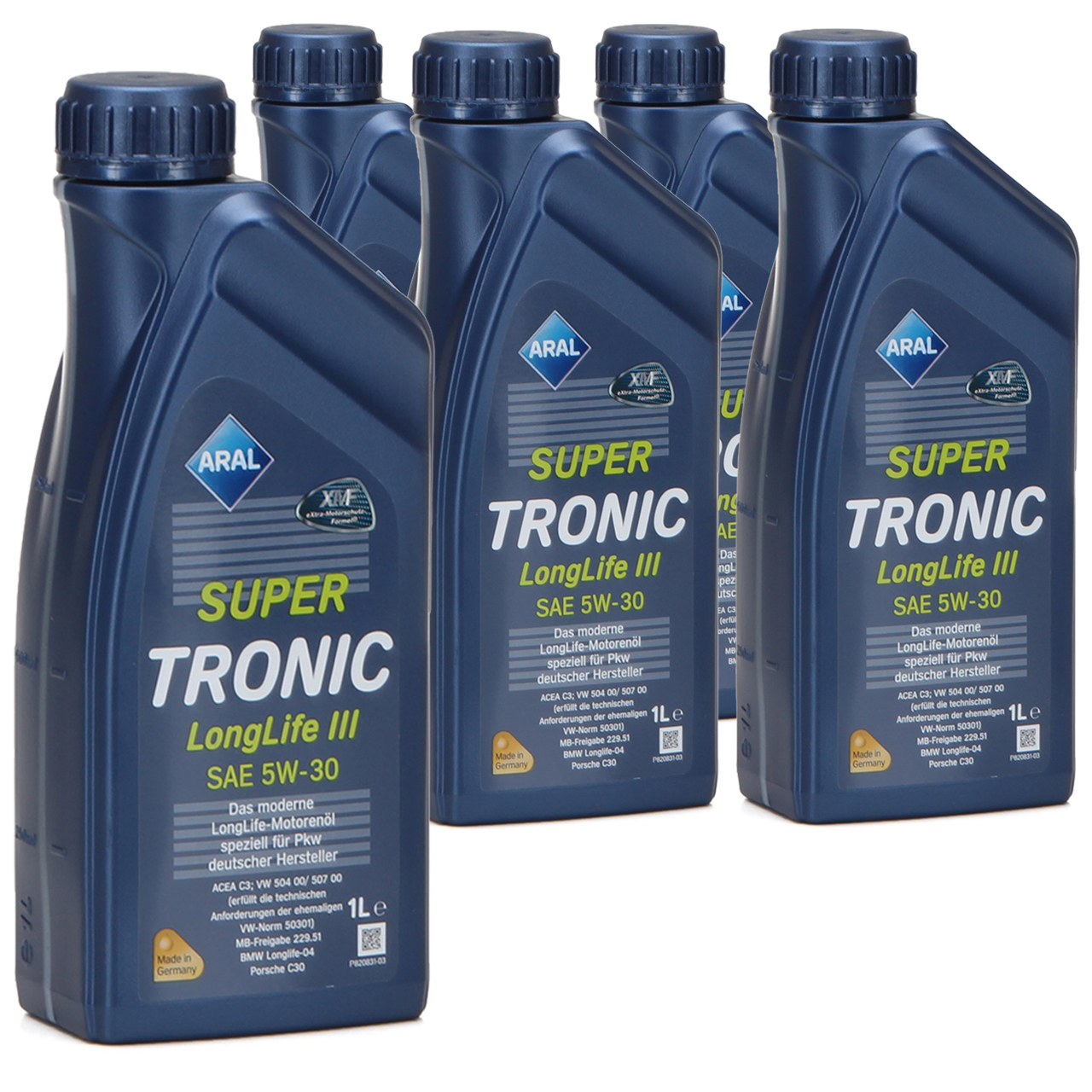 ARAL Motoröl Öl SUPER TRONIC LongLife III 5W30 für VW 504.00/507.00 - 5 Liter