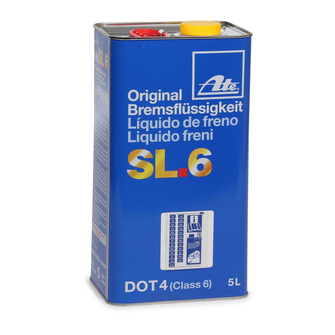 ATE 03.9901-6403.2 706403 Bremsflüssigkeit SL 6 DOT 4 - 5 L 5 Liter 5000 ml