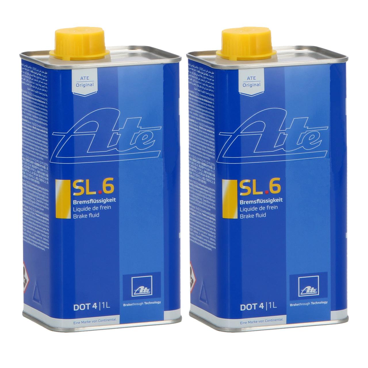 ATE 03.9901-6402.2 706402 Bremsflüssigkeit SL 6 DOT 4 - 2 L 2 Liter 2000 ml