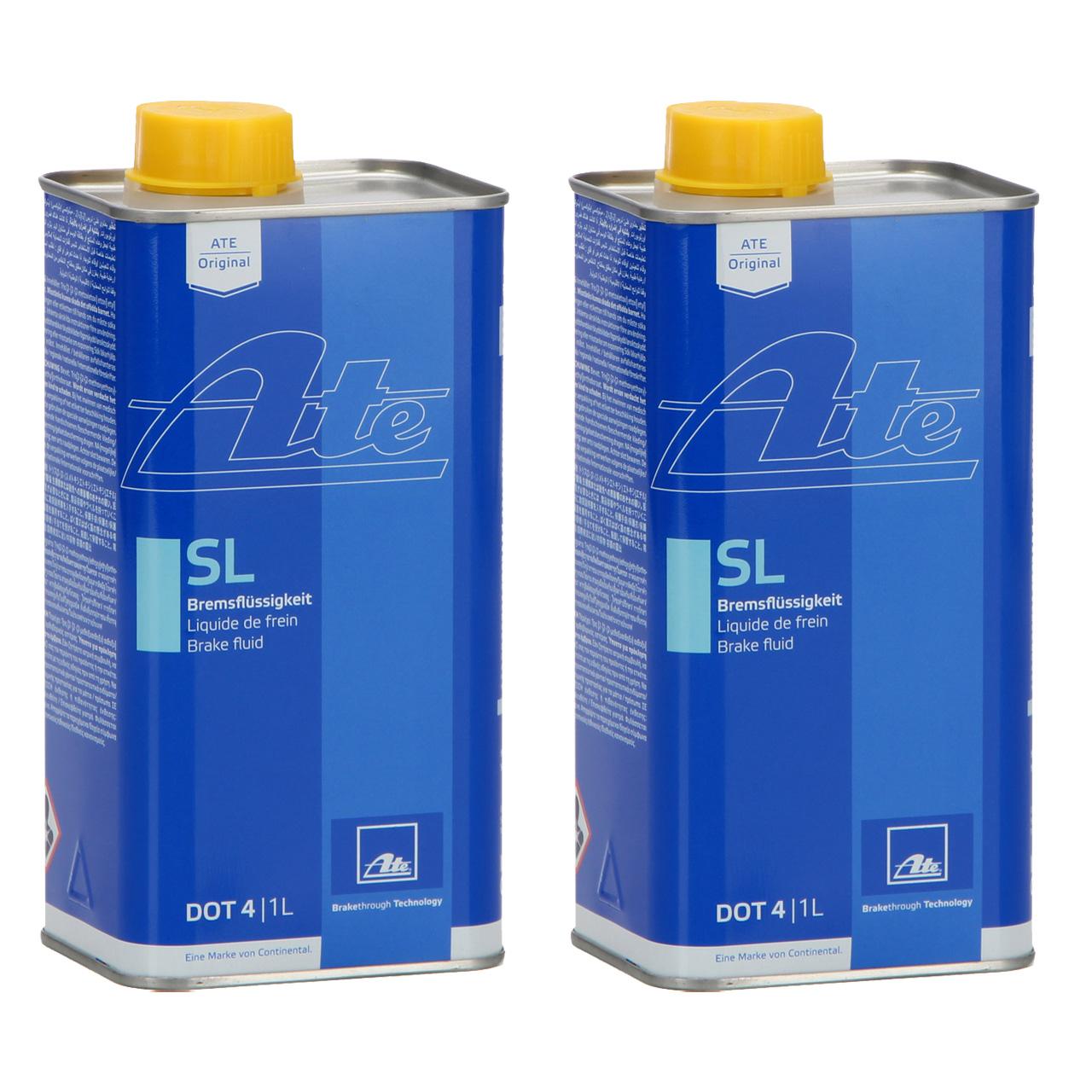 ATE 03.9901-5802.2 705802 Bremsflüssigkeit SL DOT 4 - 2 L 2 Liter 2000 ml