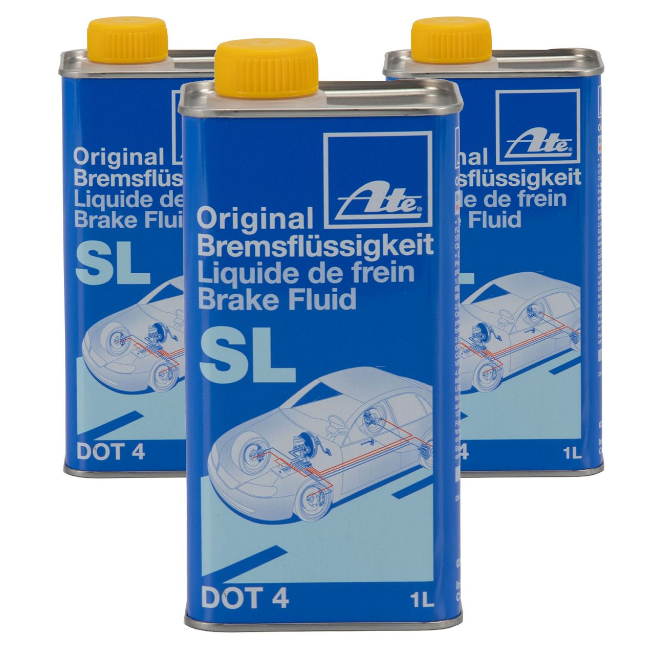 ATE 03.9901-5802.2 705802 Bremsflüssigkeit SL DOT 4 - 3 L 3 Liter 3000 ml