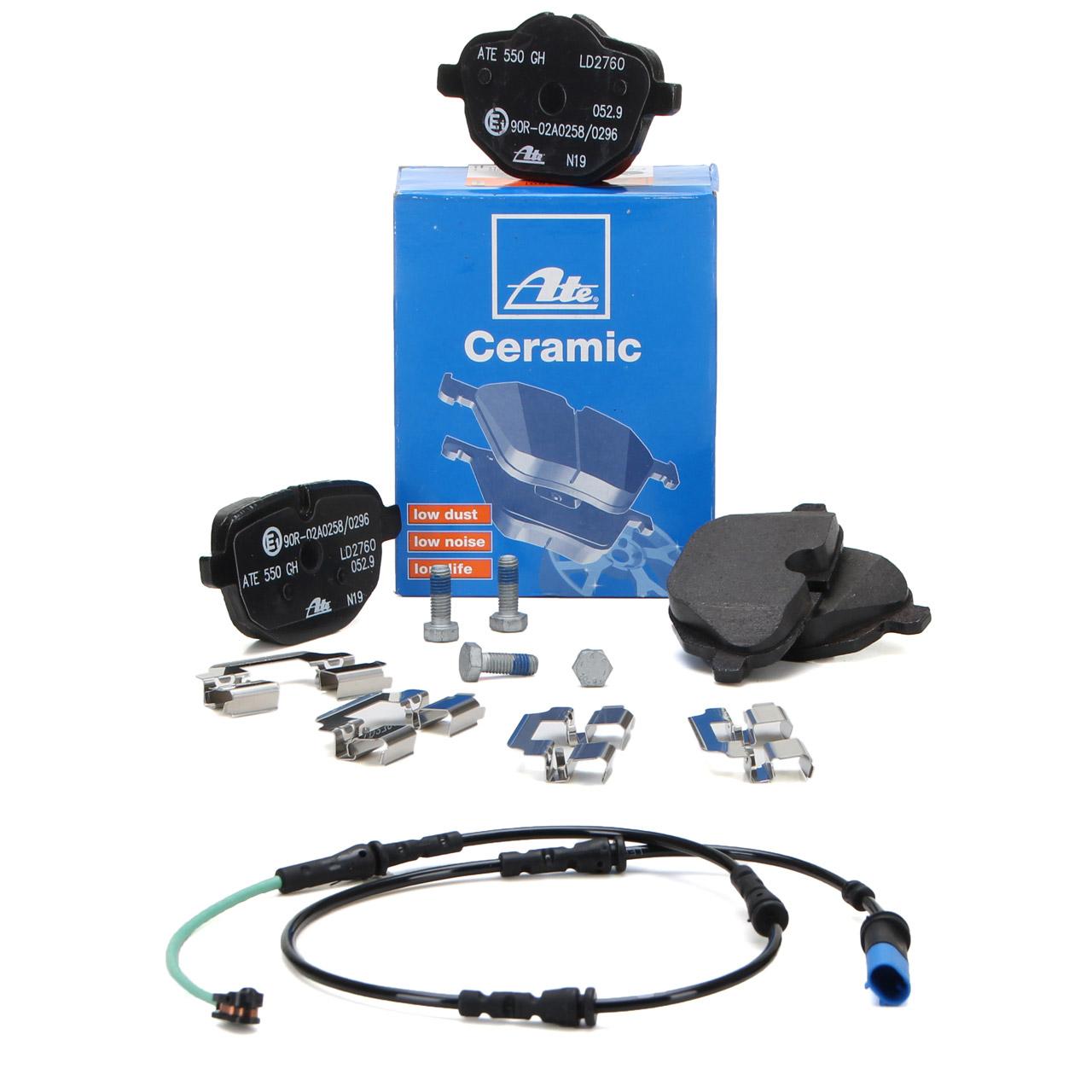 ATE CERAMIC Bremsbeläge + Warnkontaktkabel BMW 5er G30 7er G11 G12 hinten