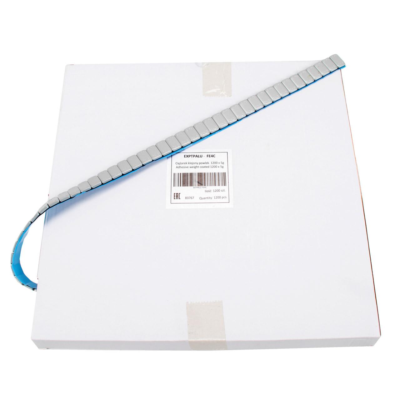 LELUX Auswuchtgewichte Klebegewichte SILBER-EISEN 3,8mm   1200 Stück x 5g