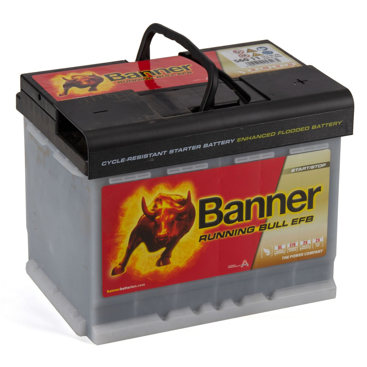 BANNER 56011 027EFBOE Running Bull EFB Autobatterie Batterie 12V 60Ah 560A