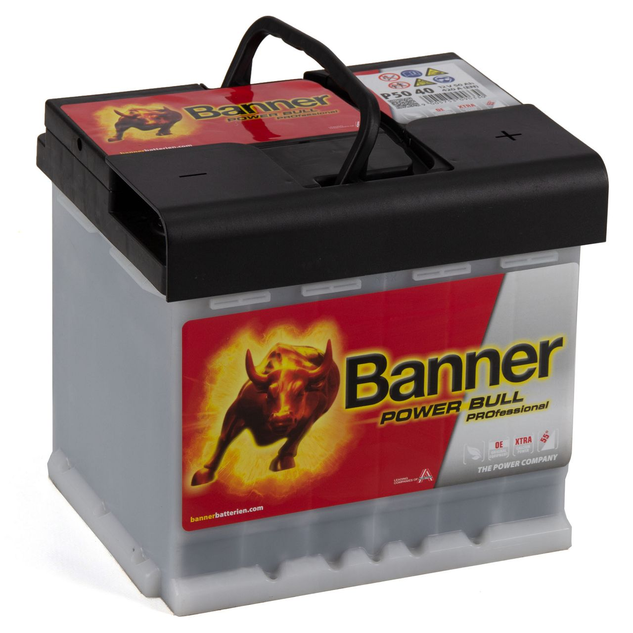 BANNER PROP5040 PRO P5040 Power Bull Professional Autobatterie Batterie 12V 50Ah