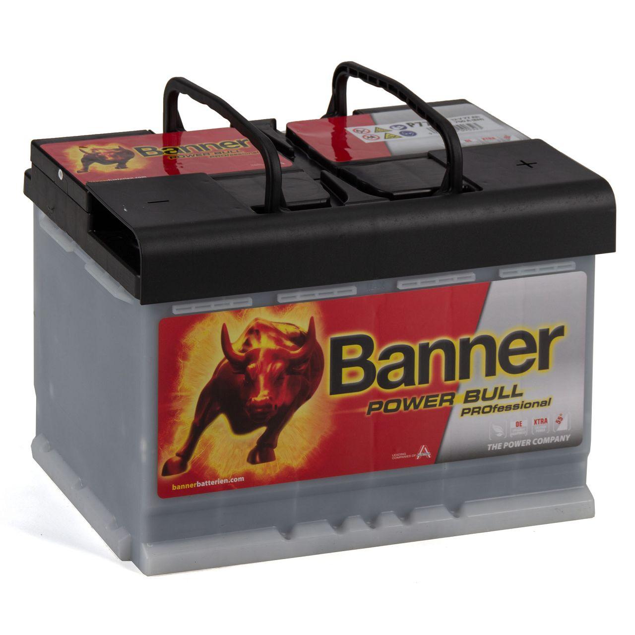BANNER PROP7740 PRO P7740 Power Bull Professional Autobatterie Batterie 12V 77Ah
