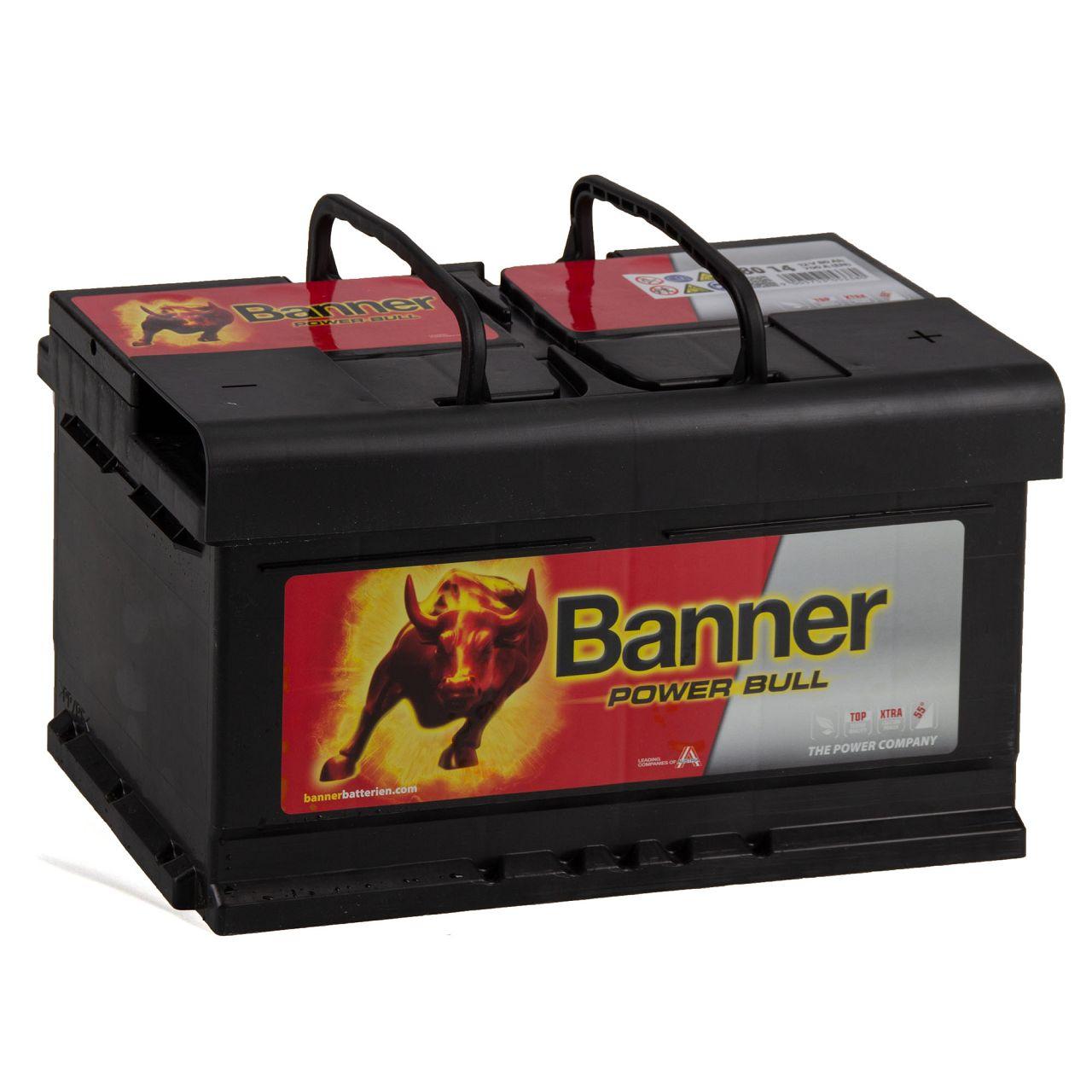BANNER 58014 P8014 Power Bull Autobatterie Batterie 12V 80Ah 700A