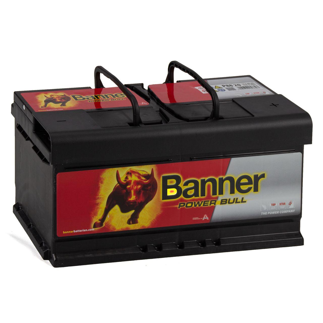 BANNER 58820 P8820 Power Bull Autobatterie Batterie 12V 88Ah 700A