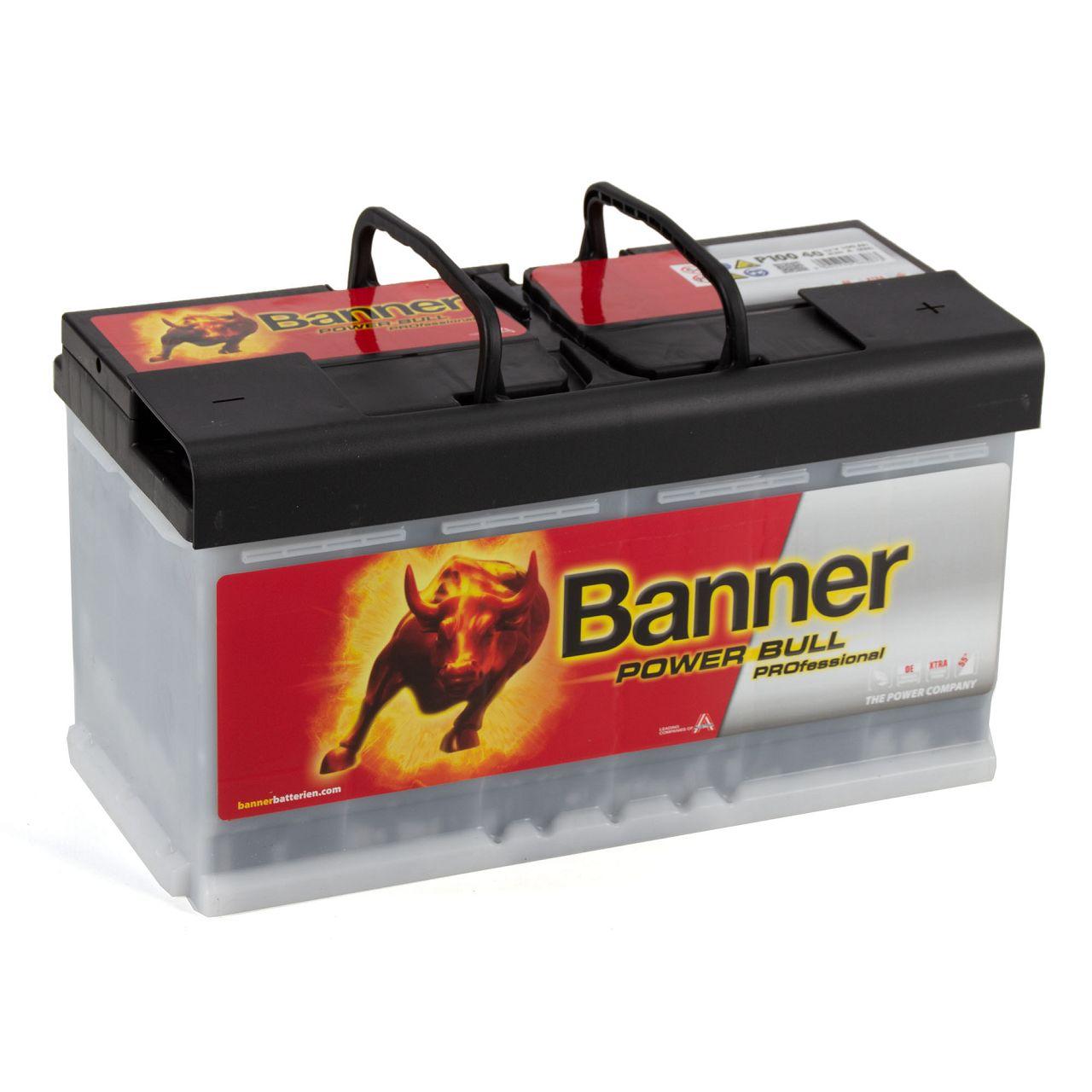BANNER PRO P10040 Power Bull Professional Autobatterie Batterie 12V 100Ah