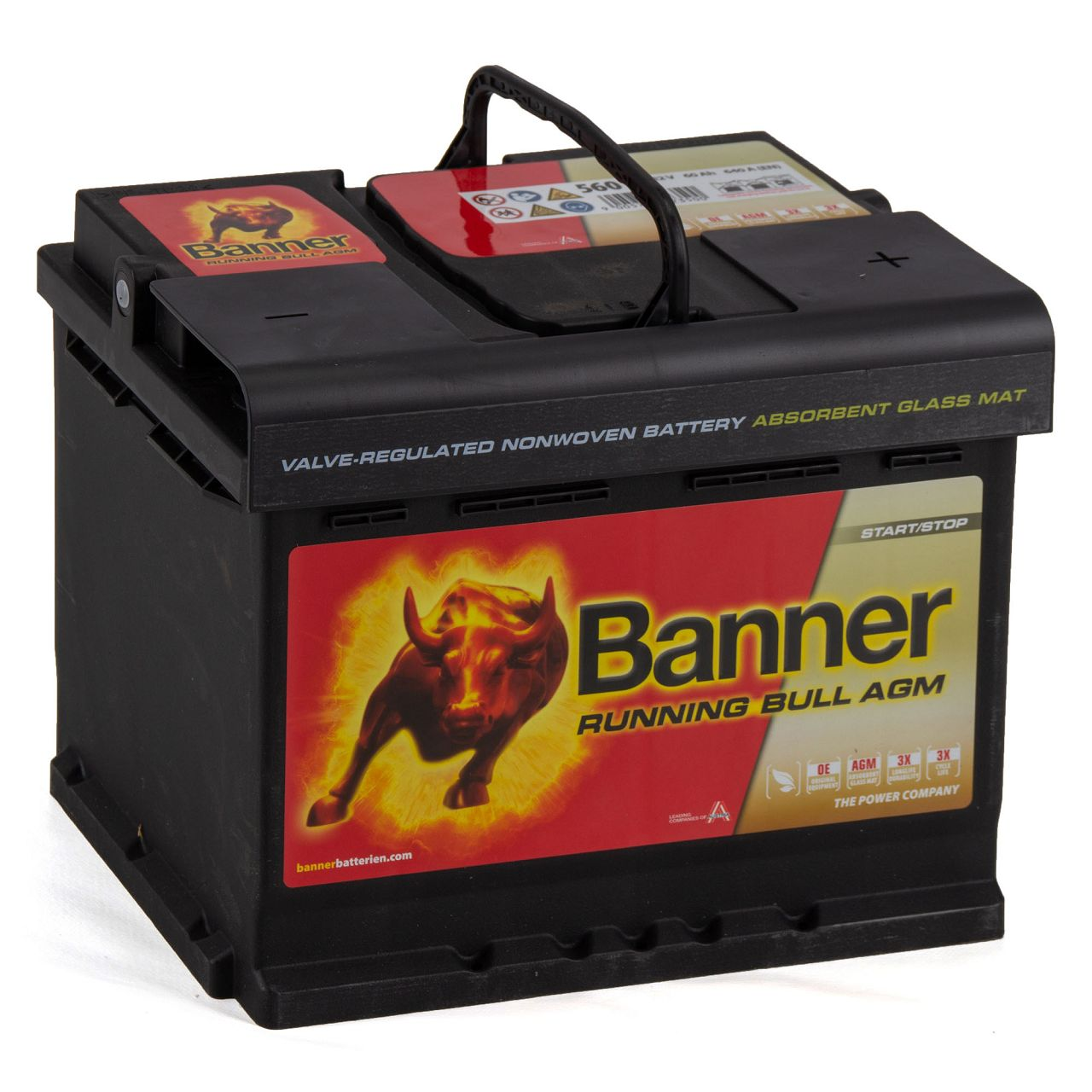 BANNER 56001 027AGMOE Running Bull AGM Autobatterie Batterie 12V 60Ah 640A