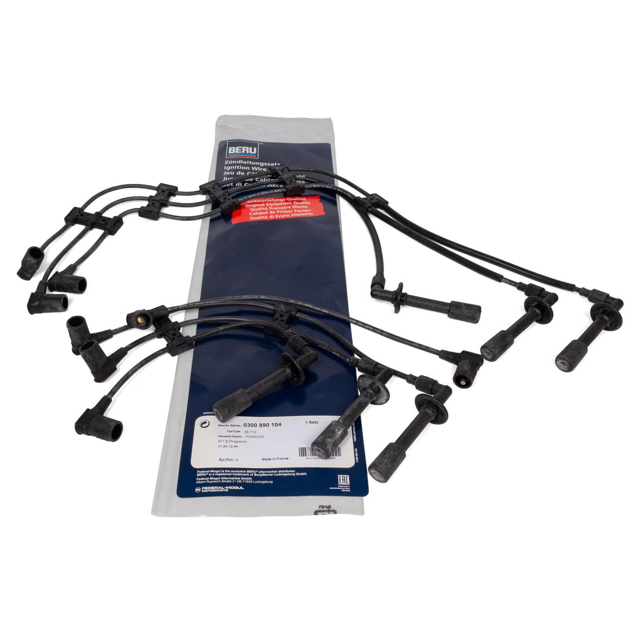 BERU ZE715 0300890104 Zündkabelsatz für PORSCHE 911 3.2 SC Carrera 231 PS 930.26