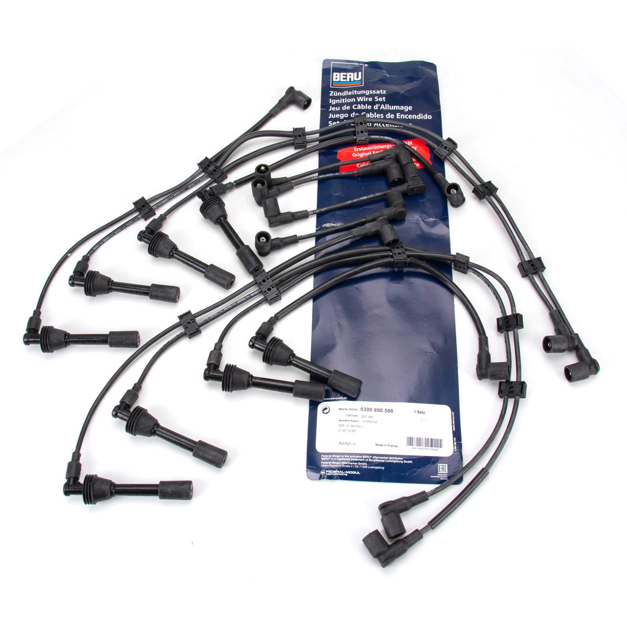 BERU ZEF586 0300890586 Zündkabelsatz PORSCHE 928 5.0 GT / S 320/330 PS