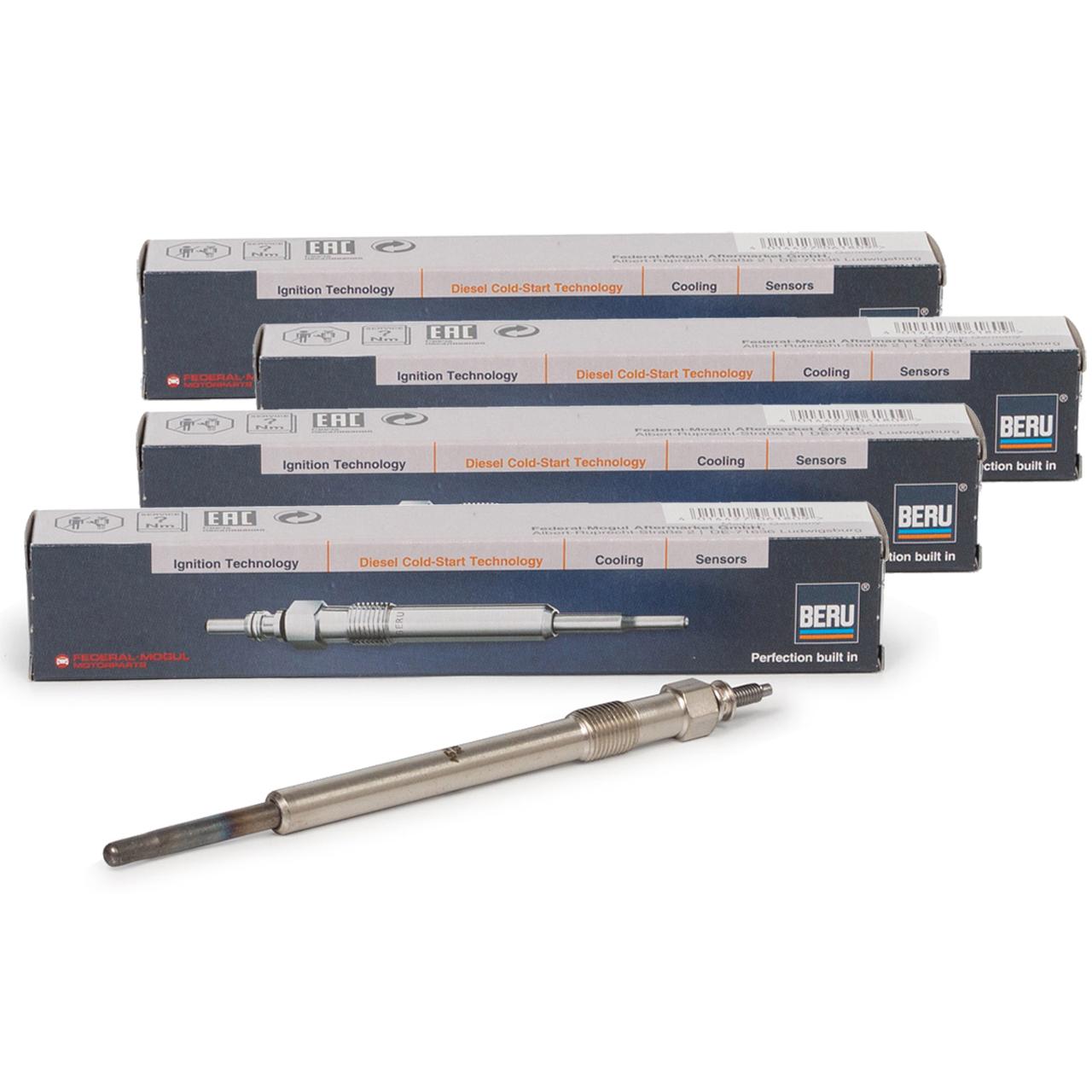 4x BERU GN939 0100226385 Glühkerze für CITROEN FIAT FORD PEUGEOT 2.0-2.4 DIESEL