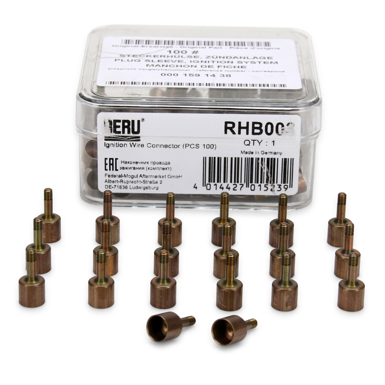 20x BERU RHB003 Steckerhülse Zündkabel MERCEDES W201 W202 W210 W126 W140 R129