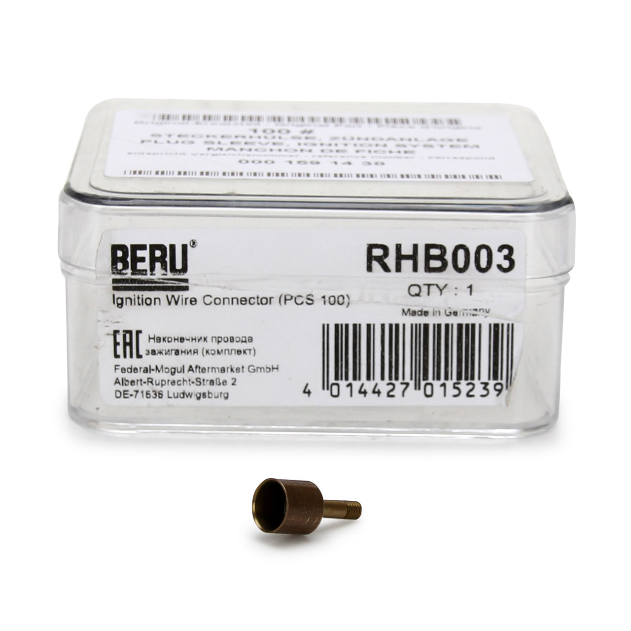 1x BERU RHB003 Steckerhülse Zündkabel für MERCEDES 190 W201 W202 W210 W140 R129