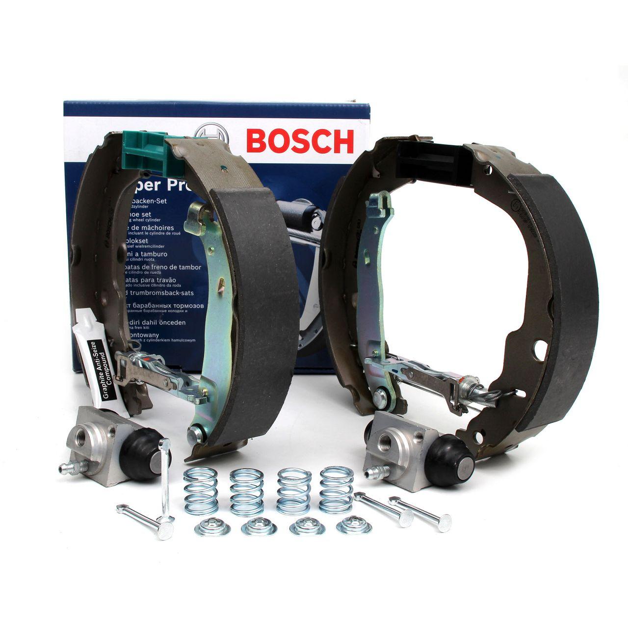 BOSCH 0204114193 KIT SUPERPRO Bremsbacken + Radbremszylinder CITROEN C3 DS3 PEUGEOT 207