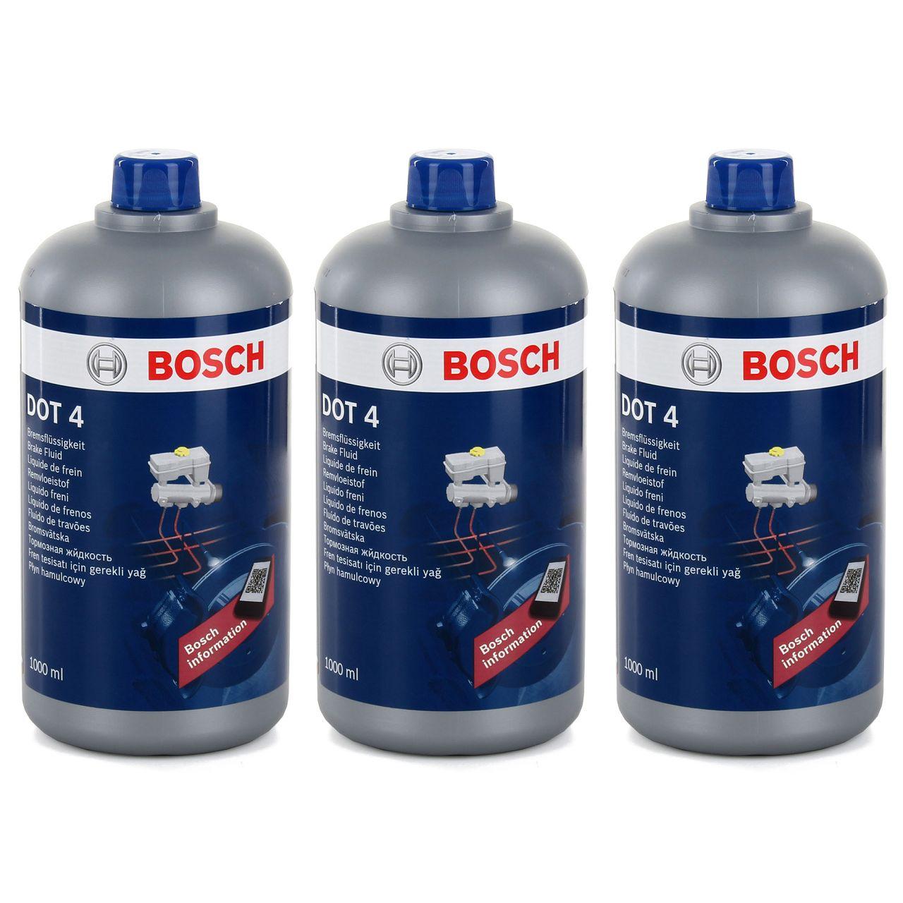 3x 1L 1 Liter BOSCH 1987479107 Bremsflüssigkeit DOT4 DOT 4 BF034