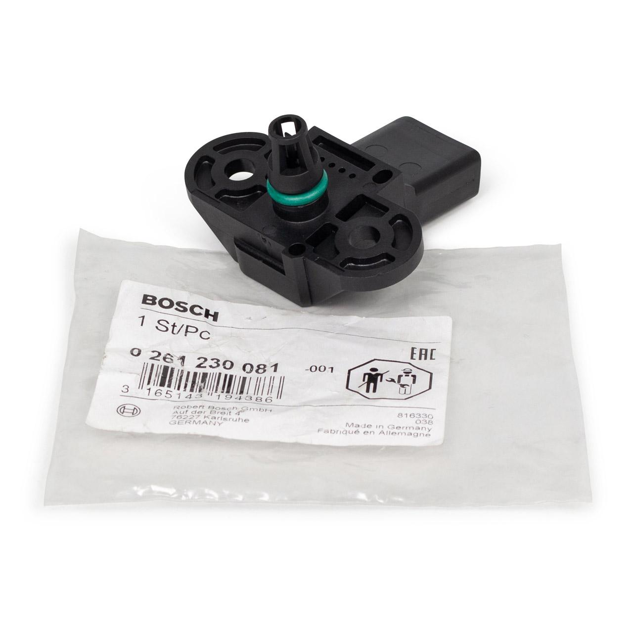 BOSCH 0261230081 Drucksensor VW Golf 5 6 Passat Polo AUDI A1 A3 A4 A5 A6 A7 A8 Q3 Q5 Q7