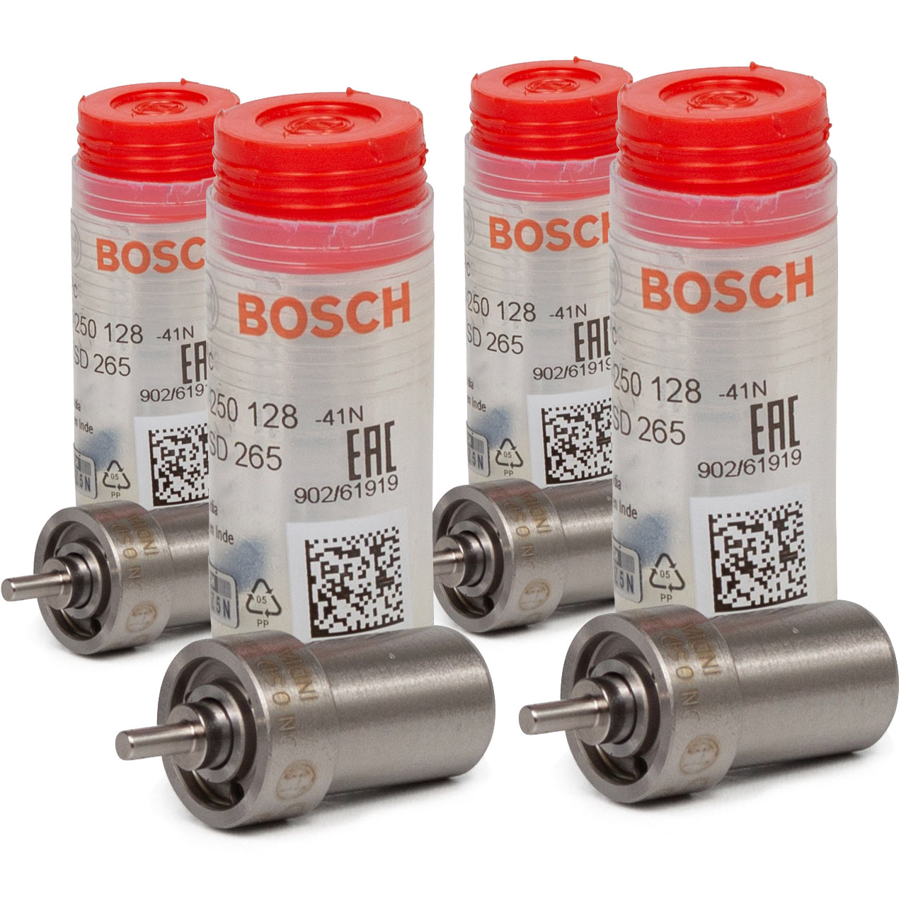 4x BOSCH 0434250128 Einspritzdüse Zapfendüse für MERCEDES-BENZ DIESEL 0010174912