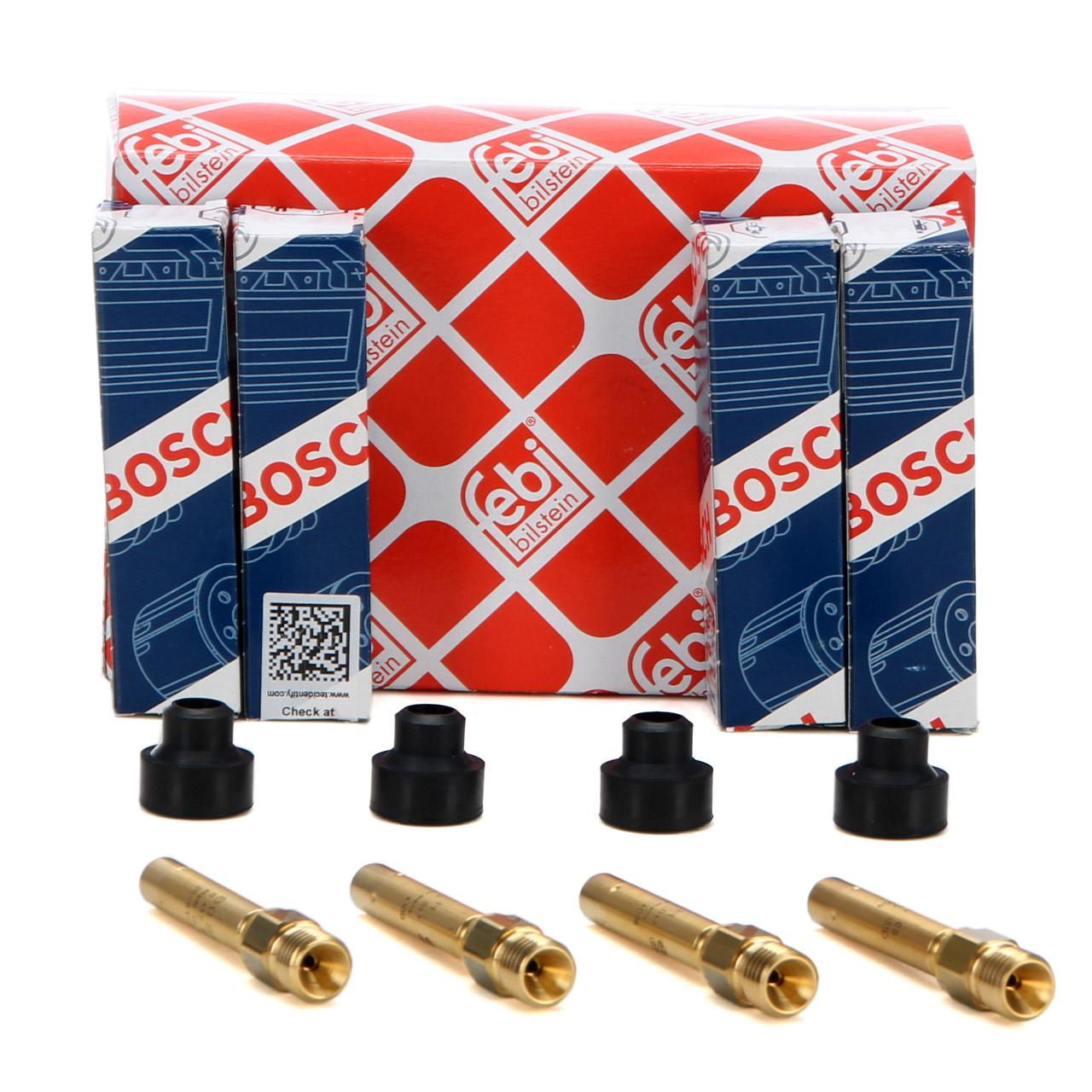 4x BOSCH 0437502047 Einspritzventil + Halter für MERCEDES 190 W201 W124 W126