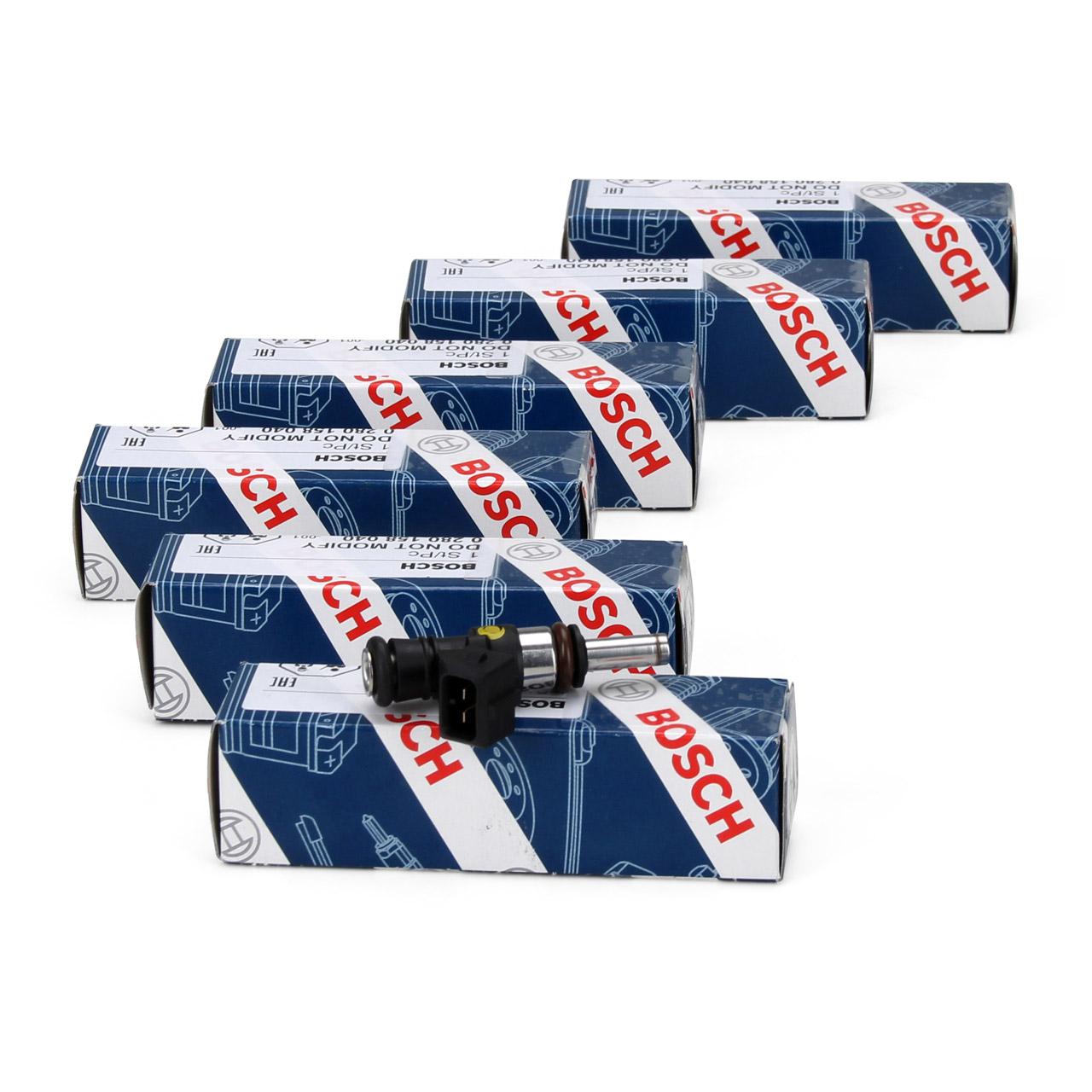 6x BOSCH 0280158040 Einspritzventil Einspritzdüse EV14 EV-14-KT 980ccm
