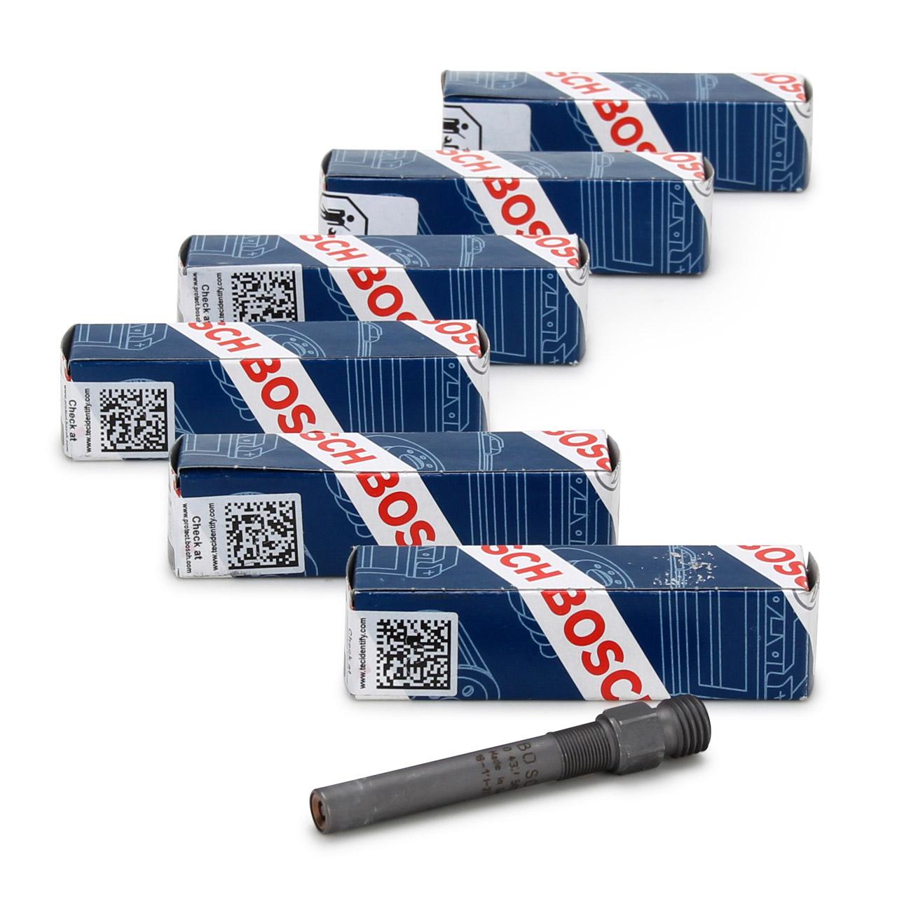 6x BOSCH 0437502009 Einspritzventil für PORSCHE 911 + CABRIO TARGA 3.0/3.3 Turbo