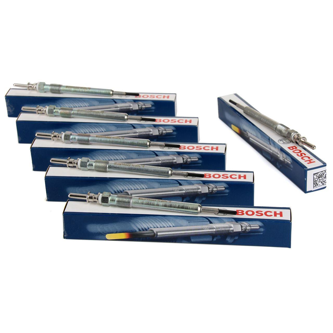 6x BOSCH Glühkerze Set Duraspeed GLP173 0250603006 für BMW 12230035934