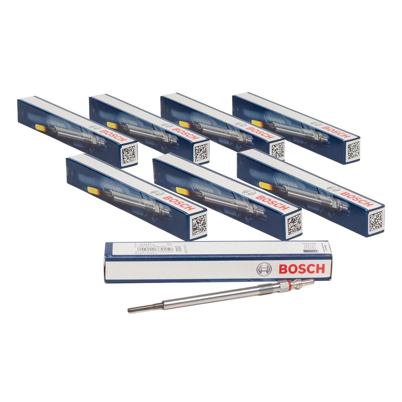 8x BOSCH Glühkerze DURATERM GLP2-HS GLP202 für MERCEDES-BENZ OM640 OM642 OM629