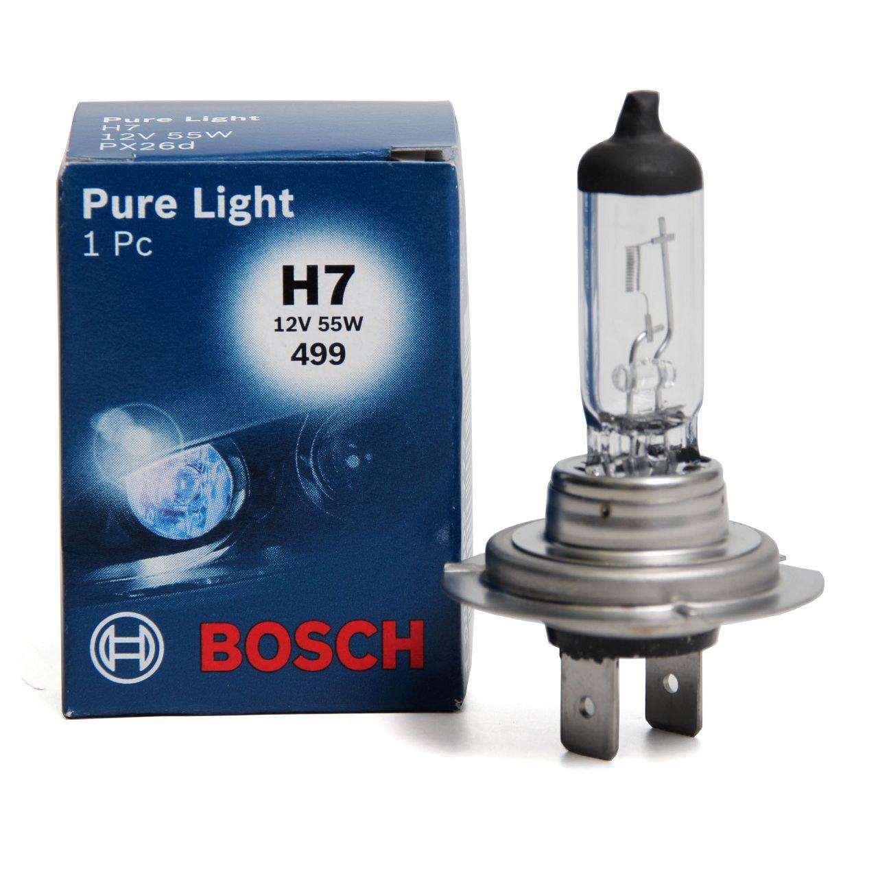 BOSCH Glühlampe Halogenlampe H7 12V 55W PX26d 1987302777