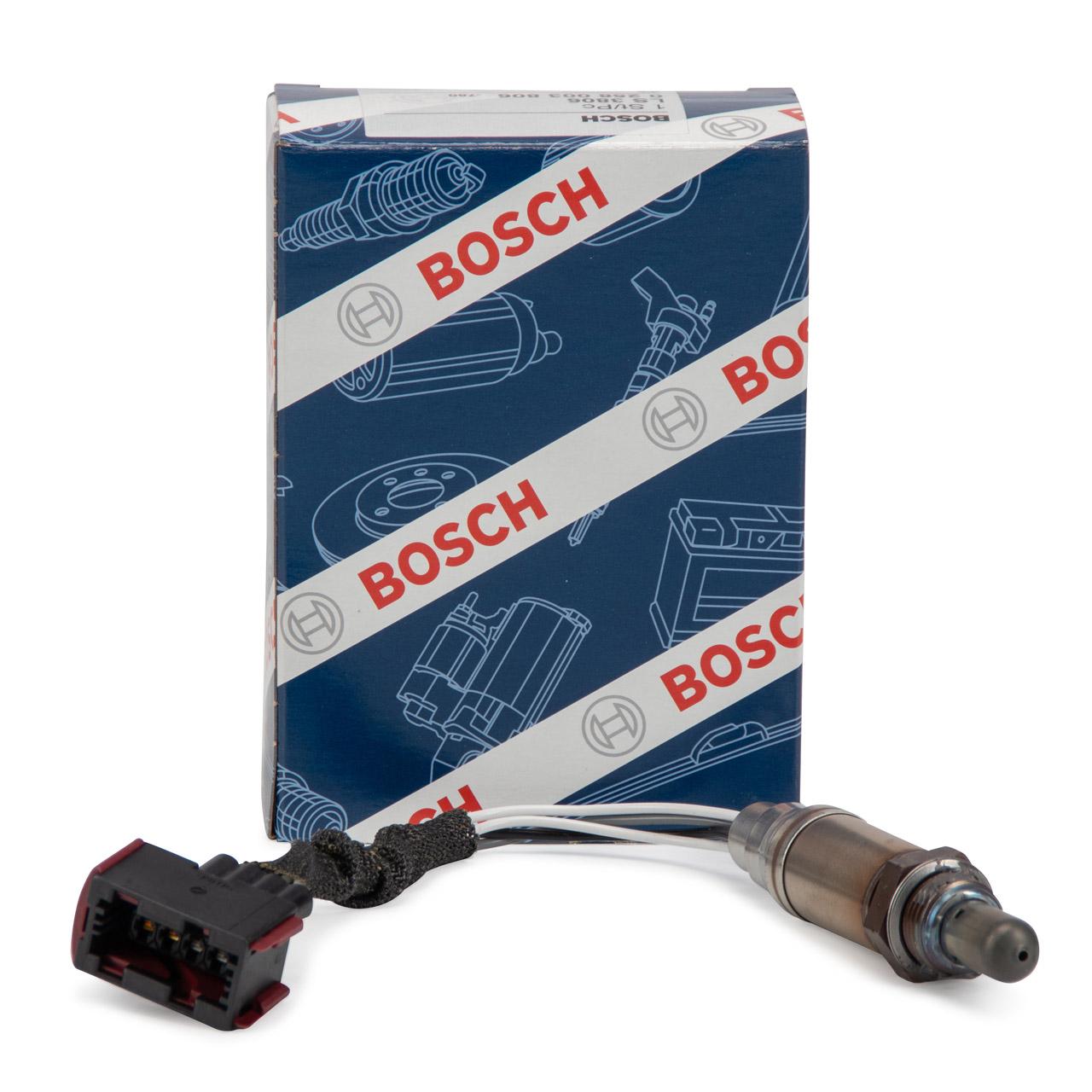 BOSCH 0258003806 Lambdasonde VOR + NACH Kat für PORSCHE BOXSTER (986)