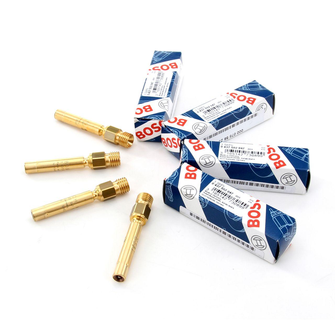 4x BOSCH 0437502047 Einspritzventil MERCEDES 190 W201 W123 W124 W126 0000785623